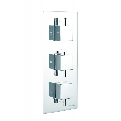Niagara Observa Concealed 2 Outlet Shower Valve With Square Handles