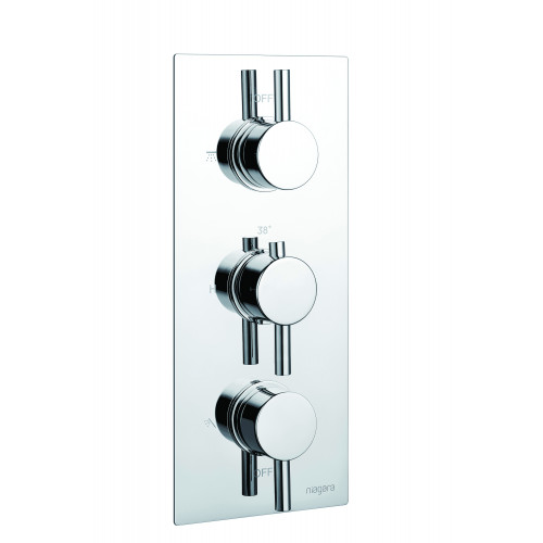 Niagara Observa Concealed 2 Outlet Shower Valve With Round Handles