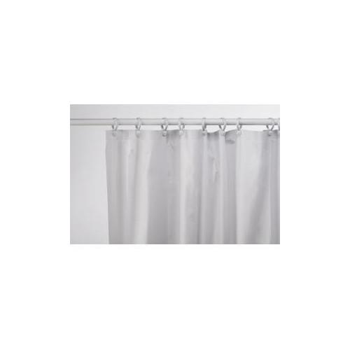 Aqua 1800mm x 1800mm White Plain Vinyl Shower Curtain Main