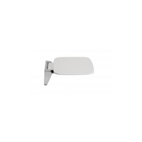Croydex Wall Mounted White & Chrome Fold Away Shower Seat Main
