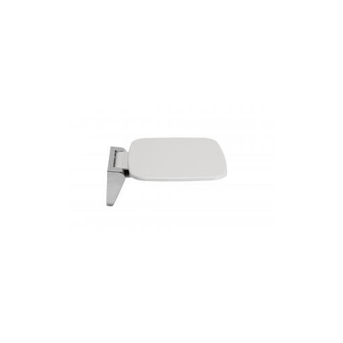 Croydex Wall Mounted White & Chrome Fold Away Shower Seat Main