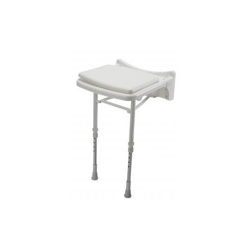 Croydex Wall Mounted Fold Away Shower Chair With Legs Main