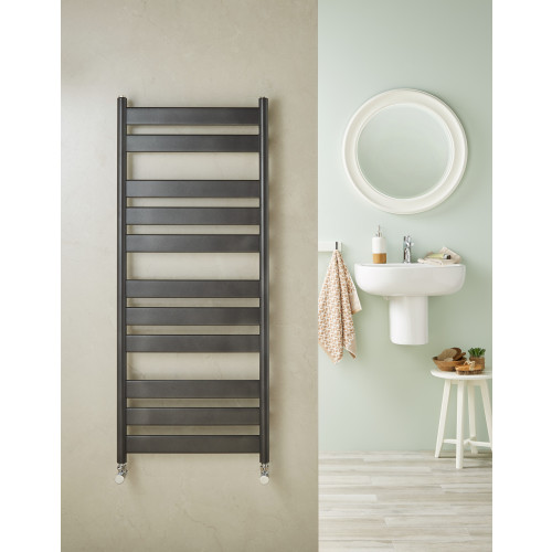 Redroom Azor 800mm x 500mm Anthracite Towel Rail