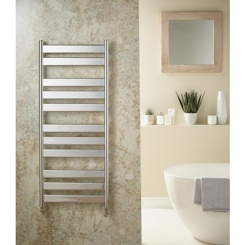 Redroom Azor 1200mm x 500mm Chrome Towel Rail