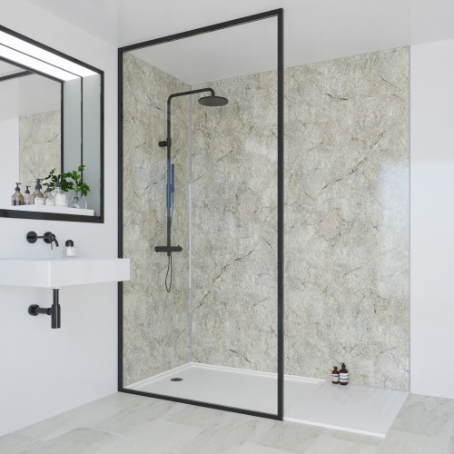 Multipanel Classic 2400mm x 1200mm Plain Edge Wall Panel - Antique Marble