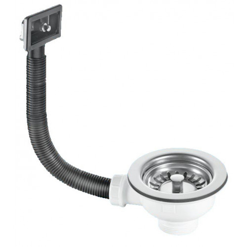 McAlpine Sink Strainer Waste With Square Overflow + Plug