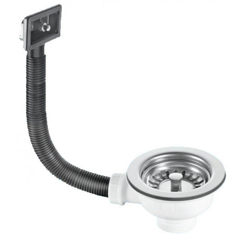 McAlpine Sink Strainer Waste With Square Overflow + Plug