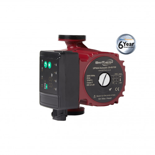 BritTherm UPS2A 25-60/130 Modulating Domestic Heating Circulating Pump