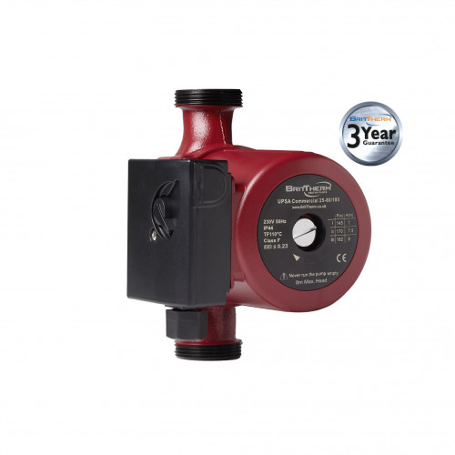 BritTherm UPSA 25-80/180 3 Speed Commercial Heating Circulating Pump