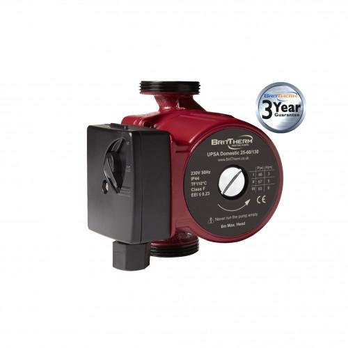BritTherm UPSA 25-60/130 3 Speed Domestic Heating Circulating Pump