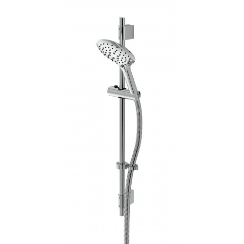 Bristan Casino Shower Kit + Large Button Chrome