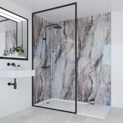 Multipanel Classic 2400mm x 1200mm Plain Edge Wall Panel - Cappucino Stone
