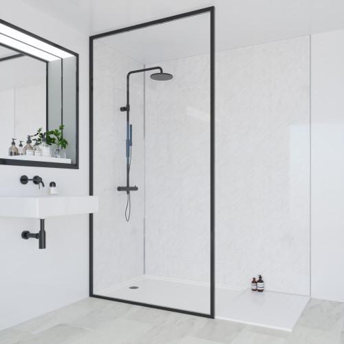 Multipanel Classic 2400mm x 900mm Plain Edge Wall Panel - Classic Marble