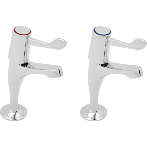 Aqua Lever Action Sink Pillar Taps