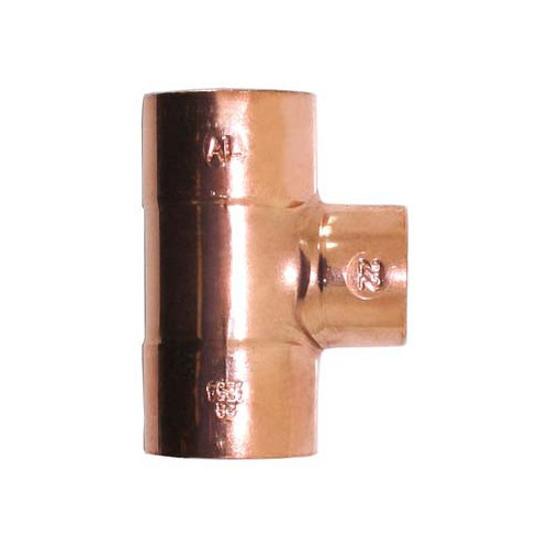 End Feed Reducing Tee - 22mm x 22mm x 15mm
