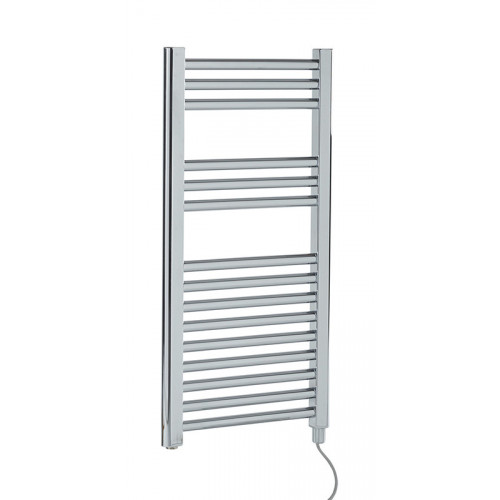 Biasi Dolomite 800mm x 400mm Straight Chrome Electric Towel Rail