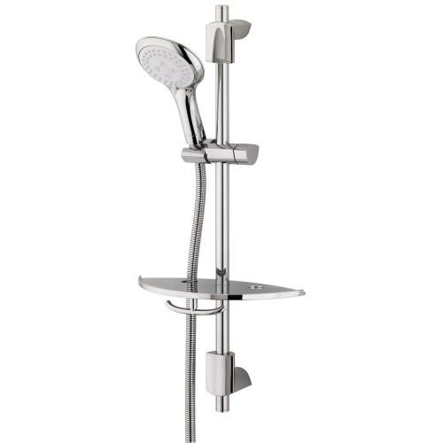 Bristan Evo Shower Rail Kit & Shelf + Evo 3 Function Shower Head