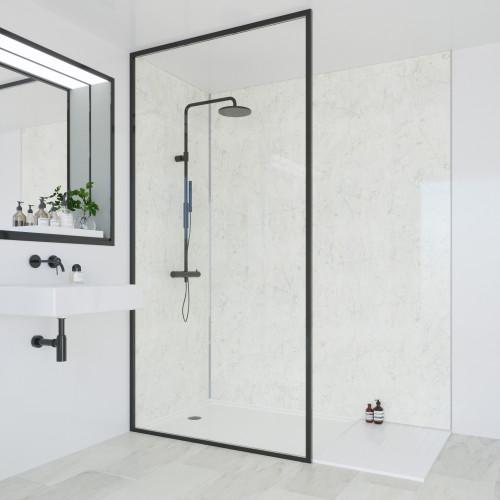 Multipanel Classic 2400mm x 1200mm Plain Edge Wall Panel - Grey Marble