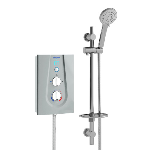 Bristan Joy 8.5 kW Electric Shower - Metallic Silver