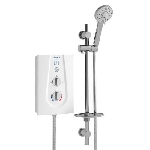 Bristan Joy 8.5 kW Electric Shower - White Tech Drawing