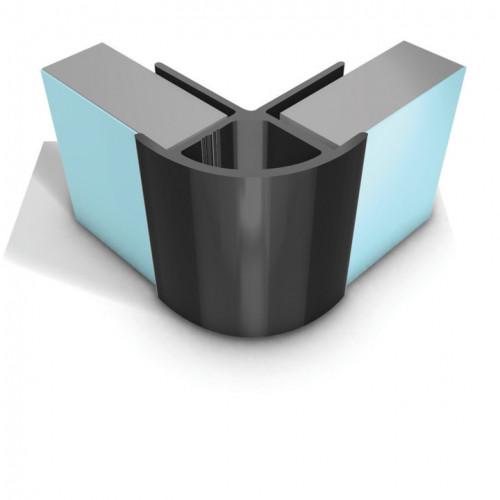 Multipanel Linda Barker - Classic & Herritage - External Corner Profile - Polished Silver