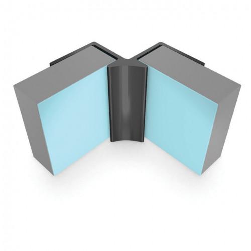 Multipanel Linda Barker - Classic & Herritage - Internal Corner Profile - Polished Silver