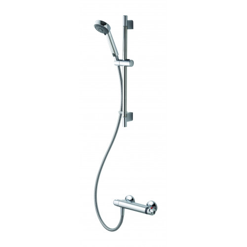 Aqualisa Midas 100 Exposed Shower Valve + Shower Rail Kit - Chrome