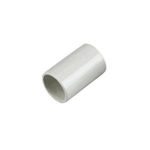 Floplast Overflow Straight Coupling (White) - 21.5mm