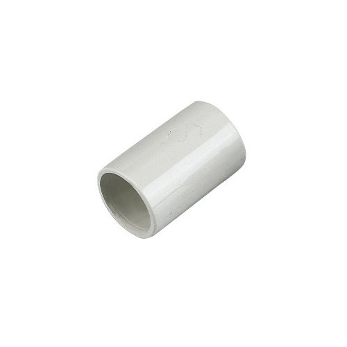 Floplast Overflow Straight Coupling (White) - 21.5mm