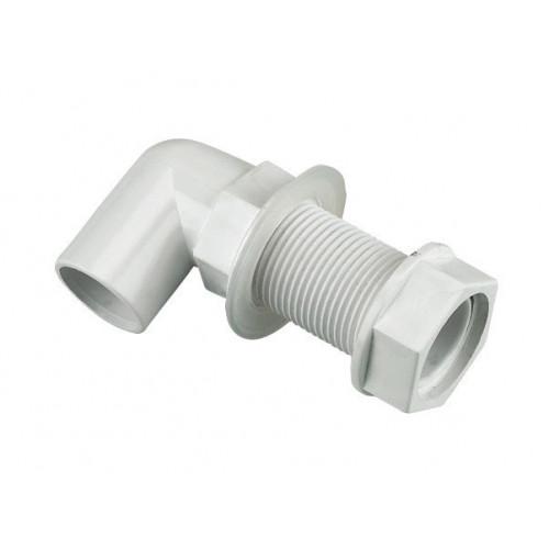 Floplast Bent Tank Connector (White) - 21.5mm