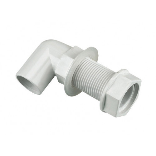 Floplast Bent Tank Connector (White) - 21.5mm