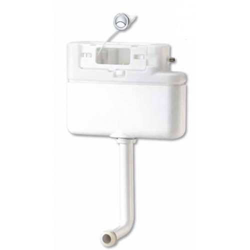 Prozone Dual Flush Concealed Furniture Cistern + Push Button