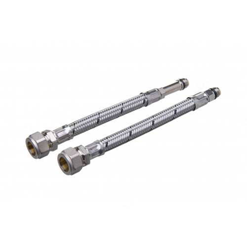 Flexible Tap Connector - 15mm x 12mm x 300mm - 2 pack
