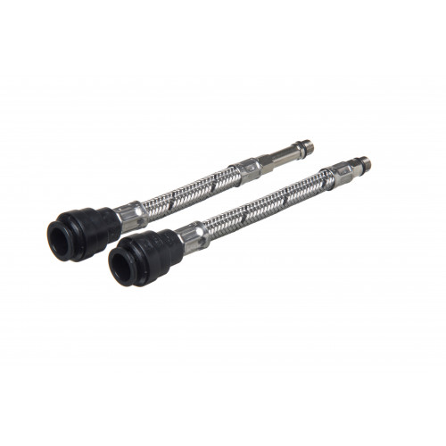 Flexible Tap Connector Push Fit - 15mm x 10mm x 300mm - 2 pack