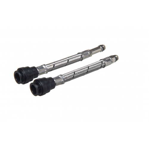 Flexible Tap Connector Push Fit - 15mm x 12mm x 300mm - 2 pack