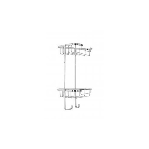 Croydex Rust Free Small Two Tier Small Corner Shower Basket Main