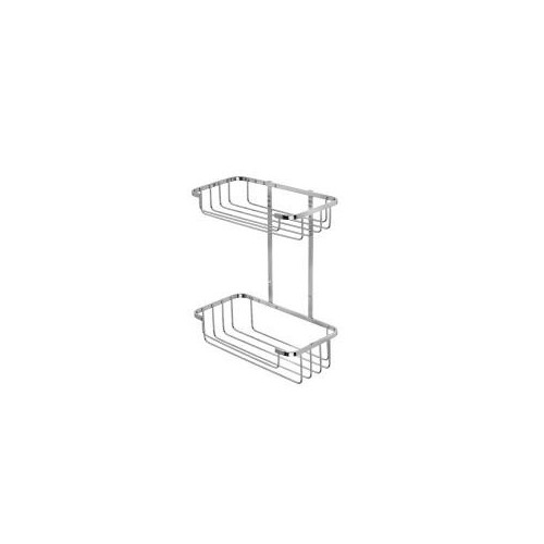 Croydex Stainless Steel Two Tier Shower Basket Main