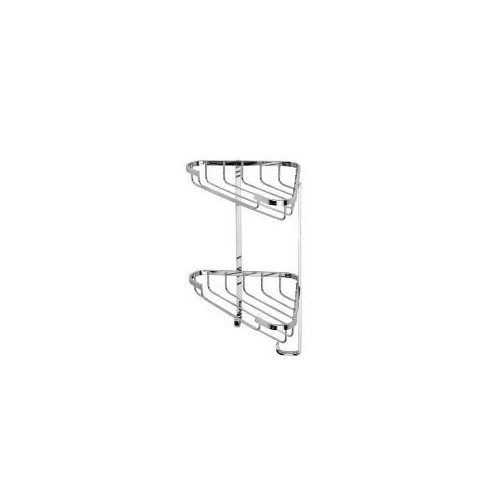 Croydex Stainless Steel Small Two Tier  Small Corner Shower Basket Main