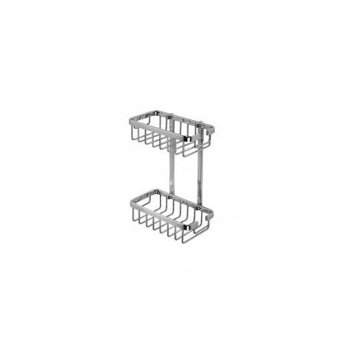 Croydex Slimline Aluminium Two Tier Shower Basket Main