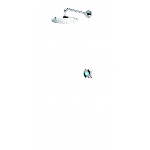 Aqualisa Q Smart Concealed Shower Valve + Wall Mounted Shower Head - Pumped