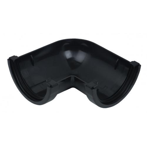 Floplast 90° Gutter Angle Round (Black) - 112mm