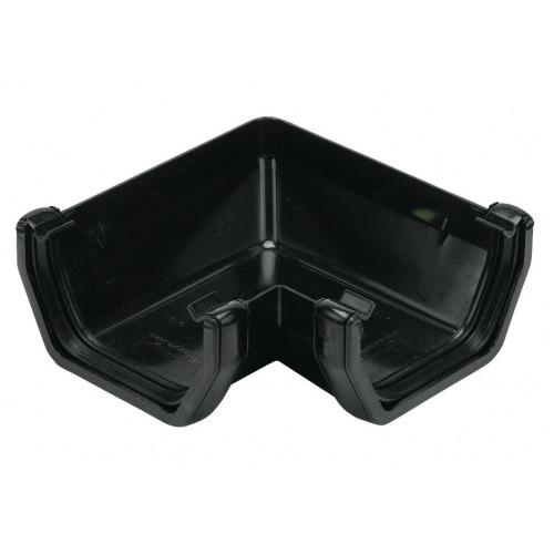 Floplast 90° Gutter Angle Square (Black) - 114mm