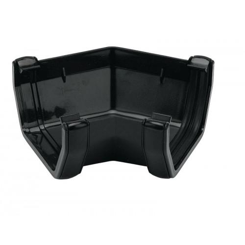 Floplast 135° Gutter Angle Square (Black) - 114mm
