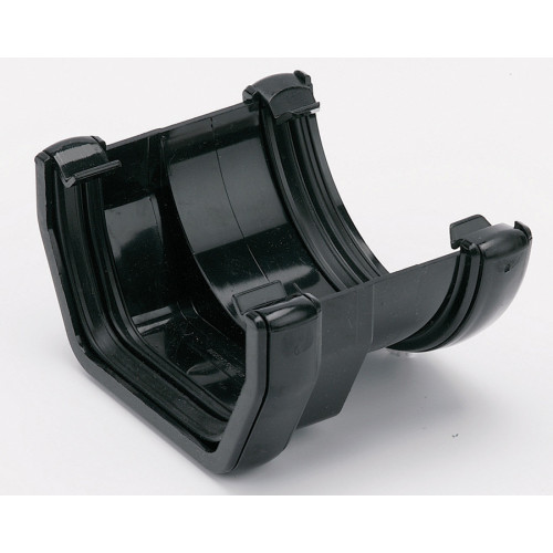 Floplast Gutter Adaptor  Round - Square (Black) - 114mm - 112mm