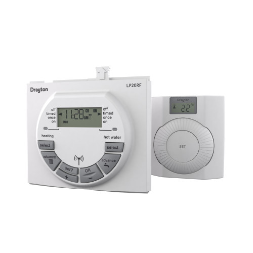 Drayton LP20Rf Clip In Twin Channel Programmable Roomstat Digistat+Rf For Worcester Boilers