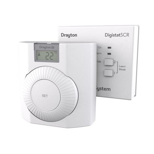 Drayton Digistat+RF Wireless Dial Room Thermostat With Digital Temperature Display