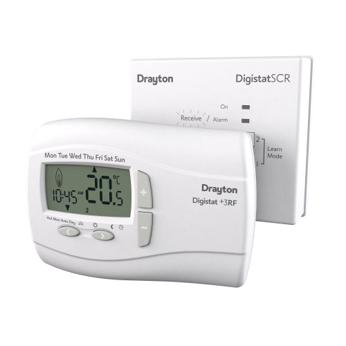 Drayton Digistat+3RF Wireless 7 Day Programmable Room Thermostat