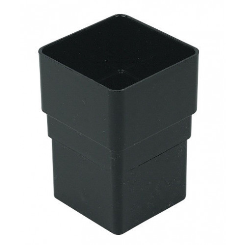 Floplast Down Pipe Connector Square (Black) - 65mm