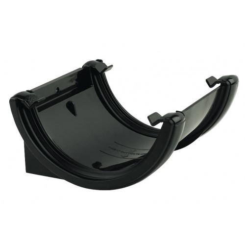 Floplast Gutter Union Bracket Round (Black) - 112mm