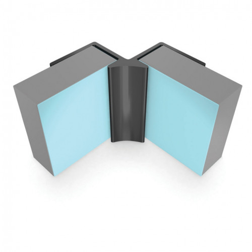 Multipanel Reflect Internal Corner Profile - Aqua